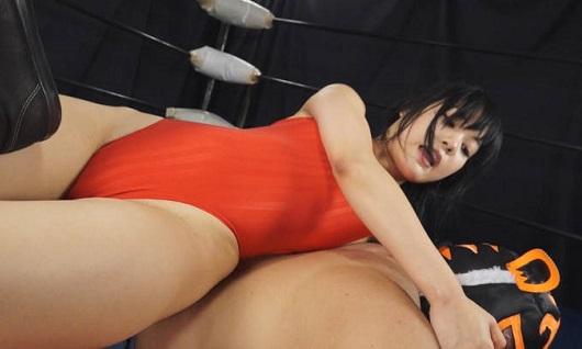 女子レスラー全裸屈辱MIX 引き裂かれたリングコスチューム
